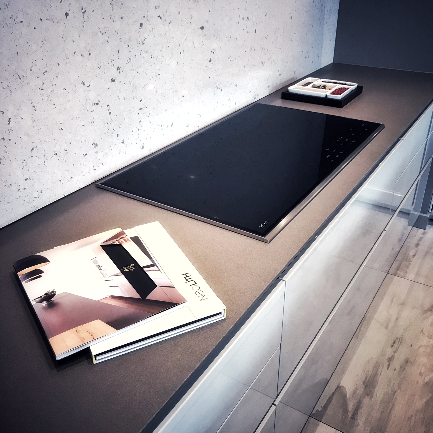 Heart has a Neolith countertop and a Neolith-clad fireplace on display- Check it out! -
