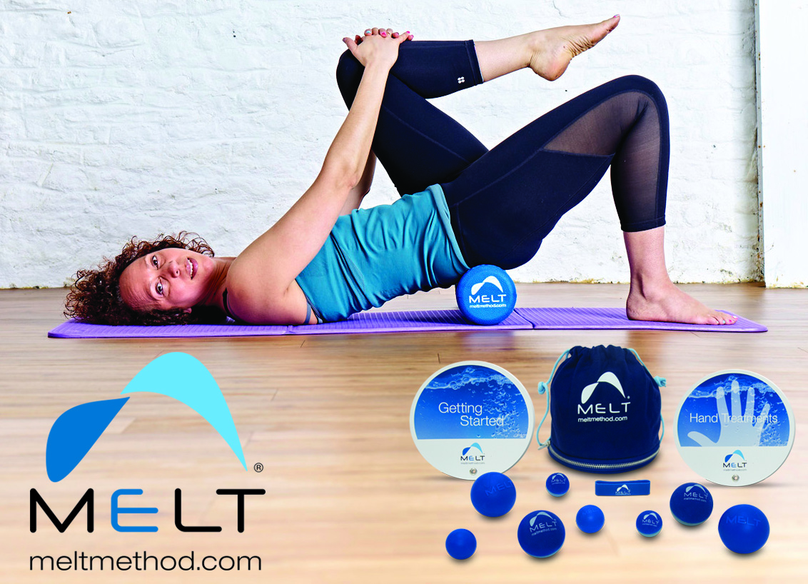 Stretch with MELT - MELT Method techniques assist you to bring your body back to its' ideal state of alignment, to reduce excess stress and strain before you start to exercise. Applying MELT to Pilates improves alignment, stability, mobility, the foundations of the Pilates Method. This allows for easier performance of the Pilates exercises with greater co-ordination, ease and flow. MELT moves can be used to prepare the body to execute the Pilates exercises or as a prop to modify, enhance or assist exercises.