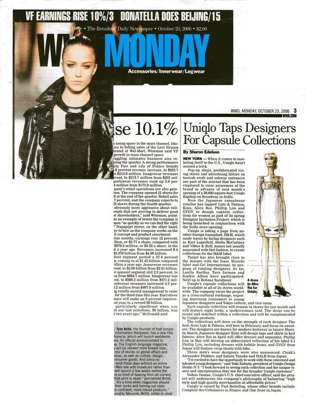 Womens Wear Daily, 10/23/2006