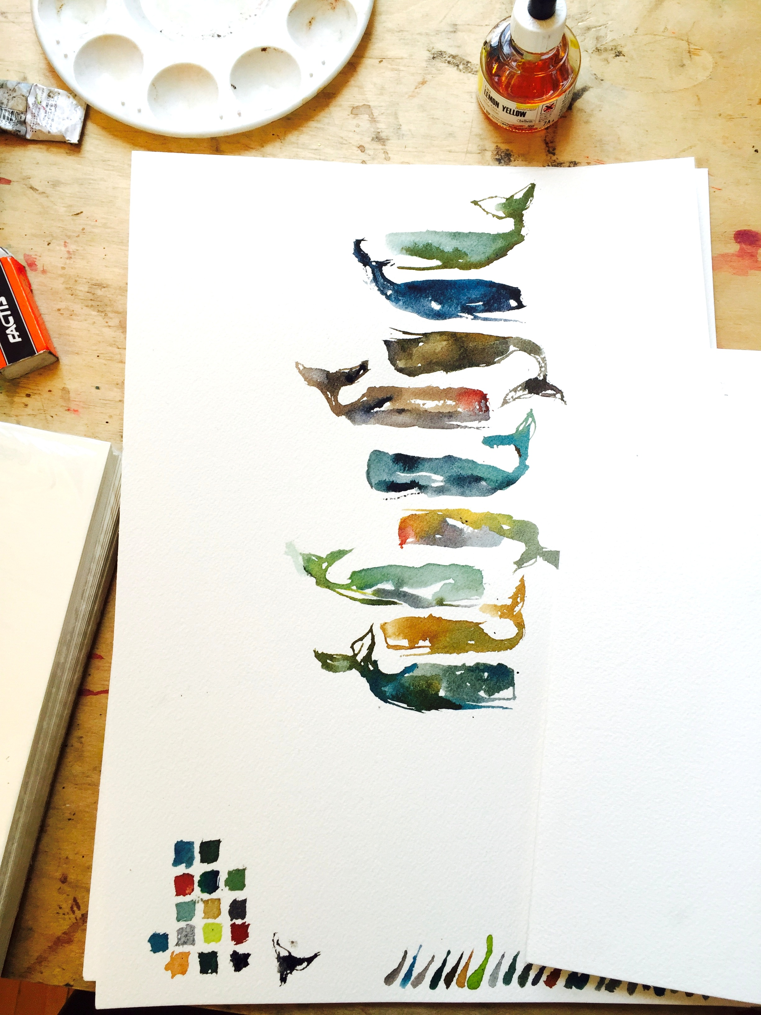 Whales, 2016 (while being painted)
