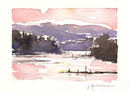 Summer Sunset - Lake, 2011
