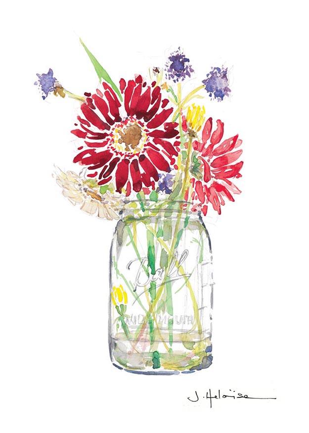 Flowers in a Ball Jar, 2010