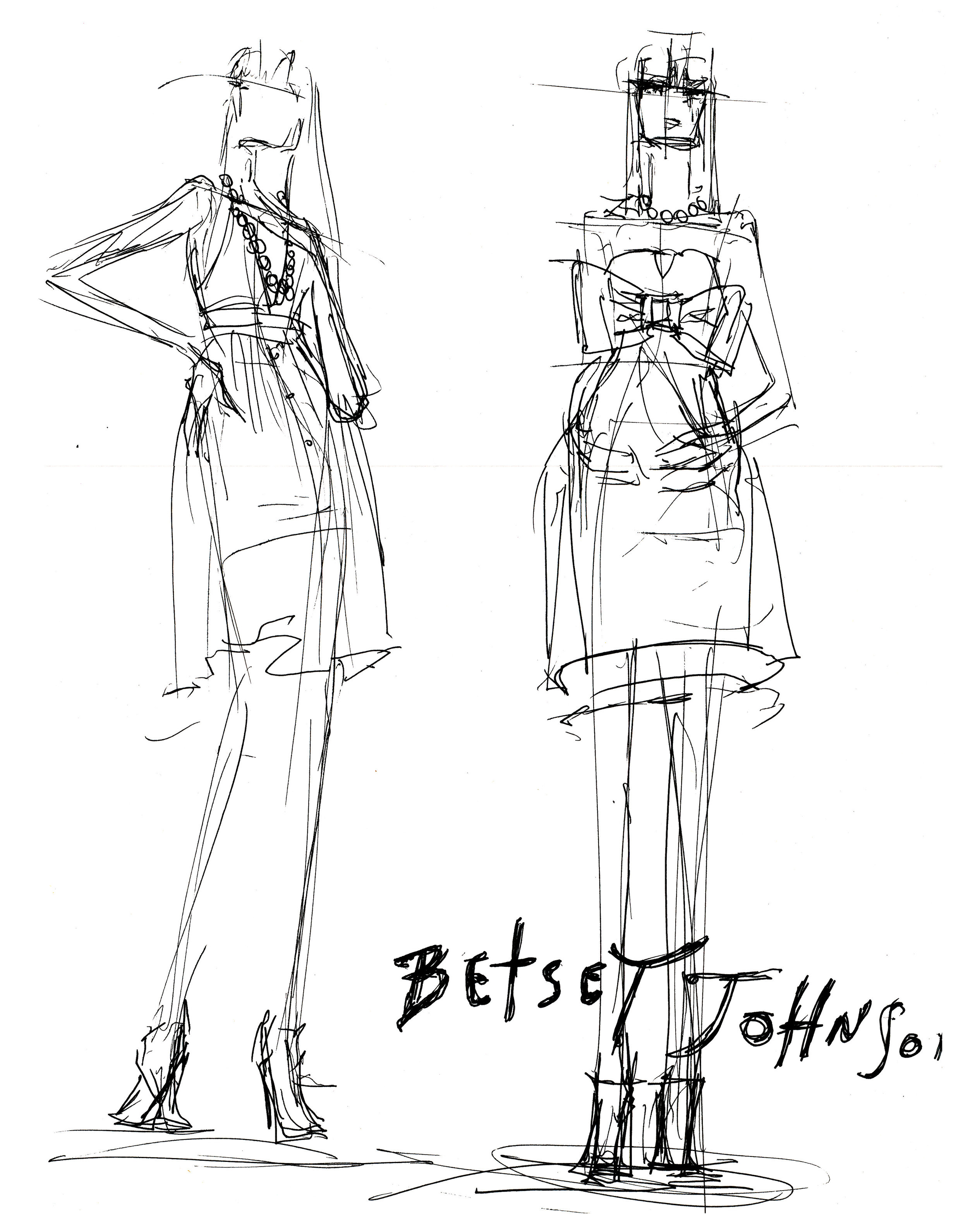 Betsey Johnson sketches