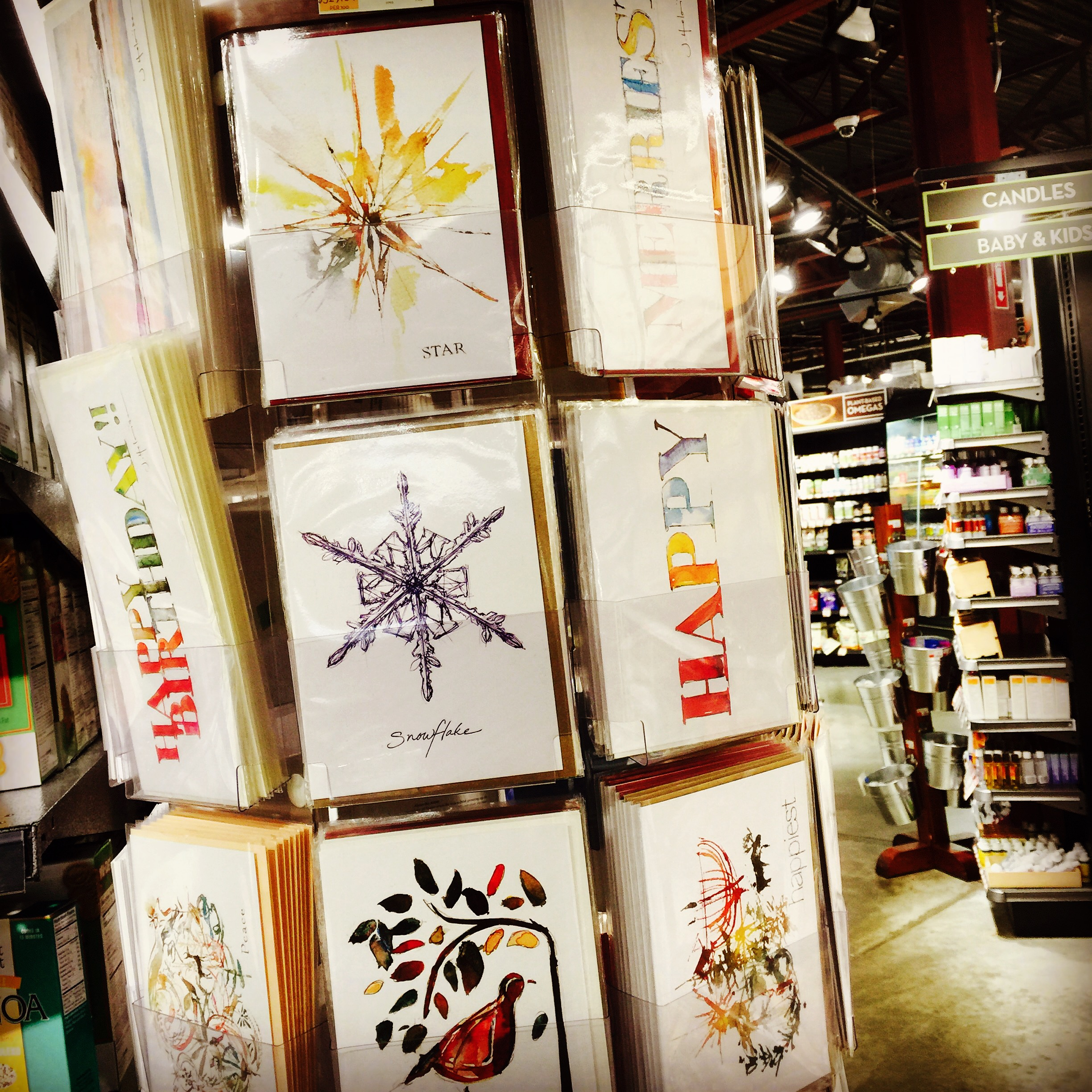 Full Greeting Card Rack at Healthy Living