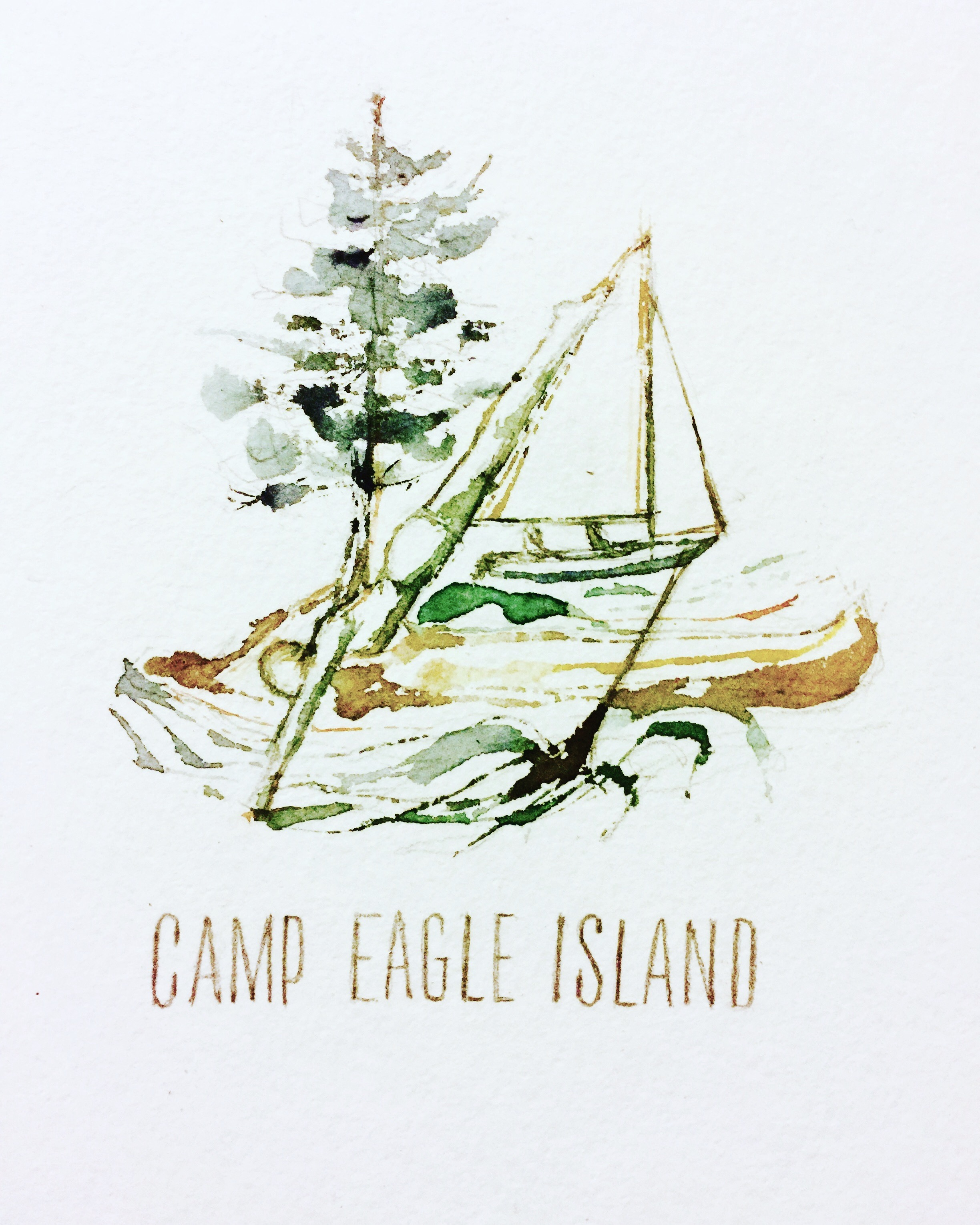 New Art!  The spirit of camp, in watercolor...  Look for T-shirts in 2018