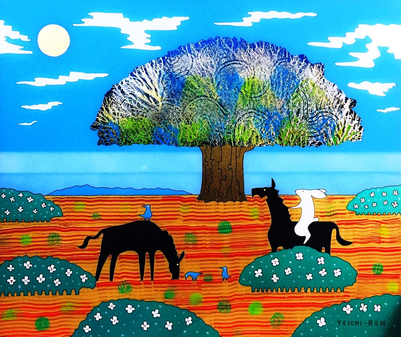 Tree birds of a mirror Tree