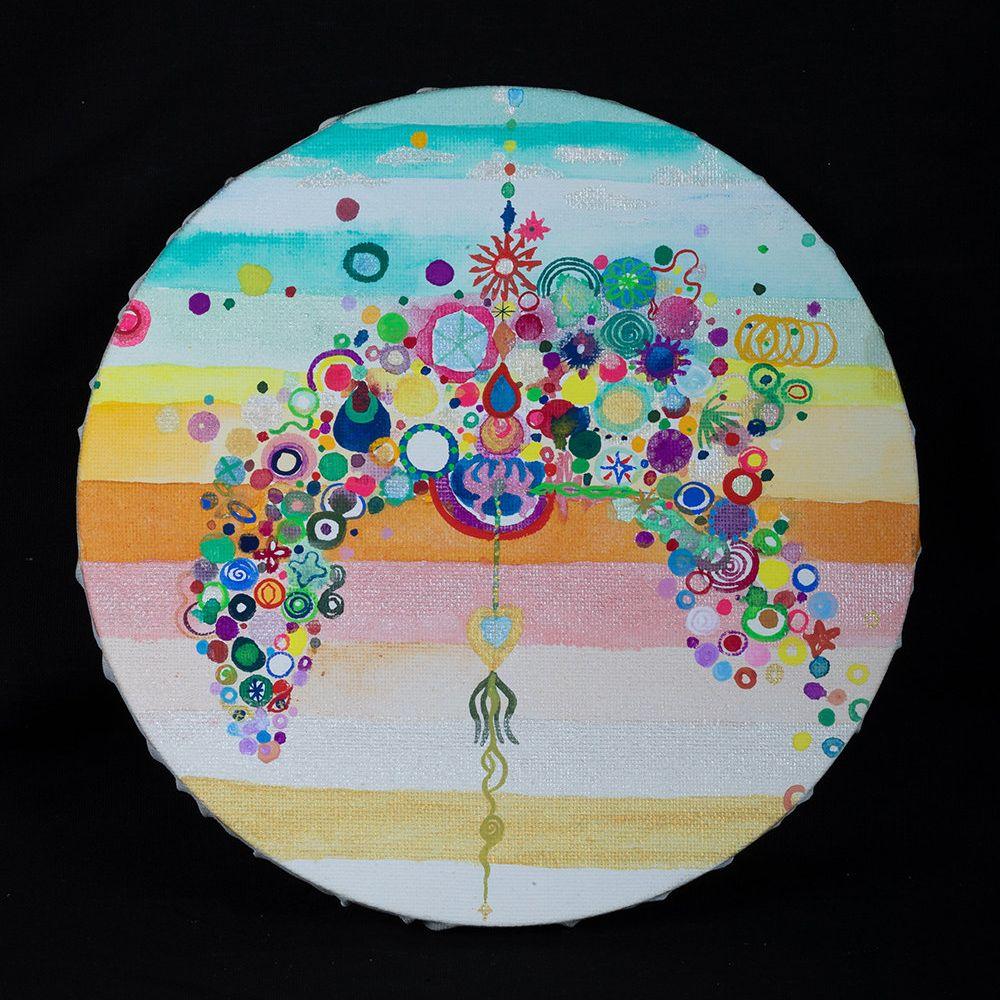 BYAKKOU -Mayumi Okubo - 01/10/2019 - 遠い昔に、水の中で暮らしていた記憶を「水の中で描く絵」として表現しています。★Sm;)ey展出展アーティスト