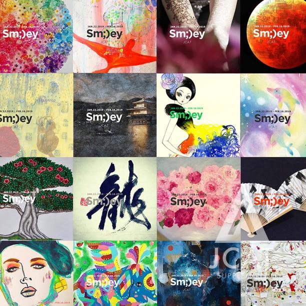 """Mixed media,paint,calligraphy+more!【Sm;)ey exhibition】Online store is now open!! . Sm;)ey Exhibition (スマイリーエキシビジョン)Jan.22.2019 - Feb.16.2019 @pleiades_gallery Chelsea NewYork ********************* ✨ Sm;)ey Exhibition (スマイリーエキシビジョン)🗽🇺🇸 Jan.22.2019 - Feb.16.2019 @pleiades_gallery Chelsea NewYork . """"We make you smile!! By JCAT"""" . 詳しい詳細、お問い合わせはJCATのウェブサイトへ  @jcat_ny (プロフィールからhttps://www.jcatny.com/へ またはDMにてお問い合わせください。ご案内をお送りいたします。 .  世界中の人をスマイルにするエキシビジョンSm;)ey展😋 ⭐️アートの本場でライブパフォーマンス・ワークショップをできるチャンスがあります!. ********************* . @jcat_exhibition follows Over 4000!! @jcat_ny follows Over1000!! みなさんフォローありがとうございます😘 . ⭐️JCATのウェブサイトから海外でのアート活動にに役立つニュースレター「JCATサプリ」に登録できるようになりました!@jcat_supply . .  #smileyexhibition #😃exhibition#Smiley#JCAT #😘 #JCAT_ny#JCAT_ARTIST#chelseagalleries  #arisaitami #artoftheday#japaneseartist#japaneseart  #manhattan#nycexhibition#contemporaryart #drawing . . . . . #アート #イラスト  #グループ展  #現代アート  #抽象画  #絵描き #アブストラクト #ペインター  #イラストレーター  #フォトグラファー  #写真家  #書道家  #ニューヨーク #ライブペイント"""
