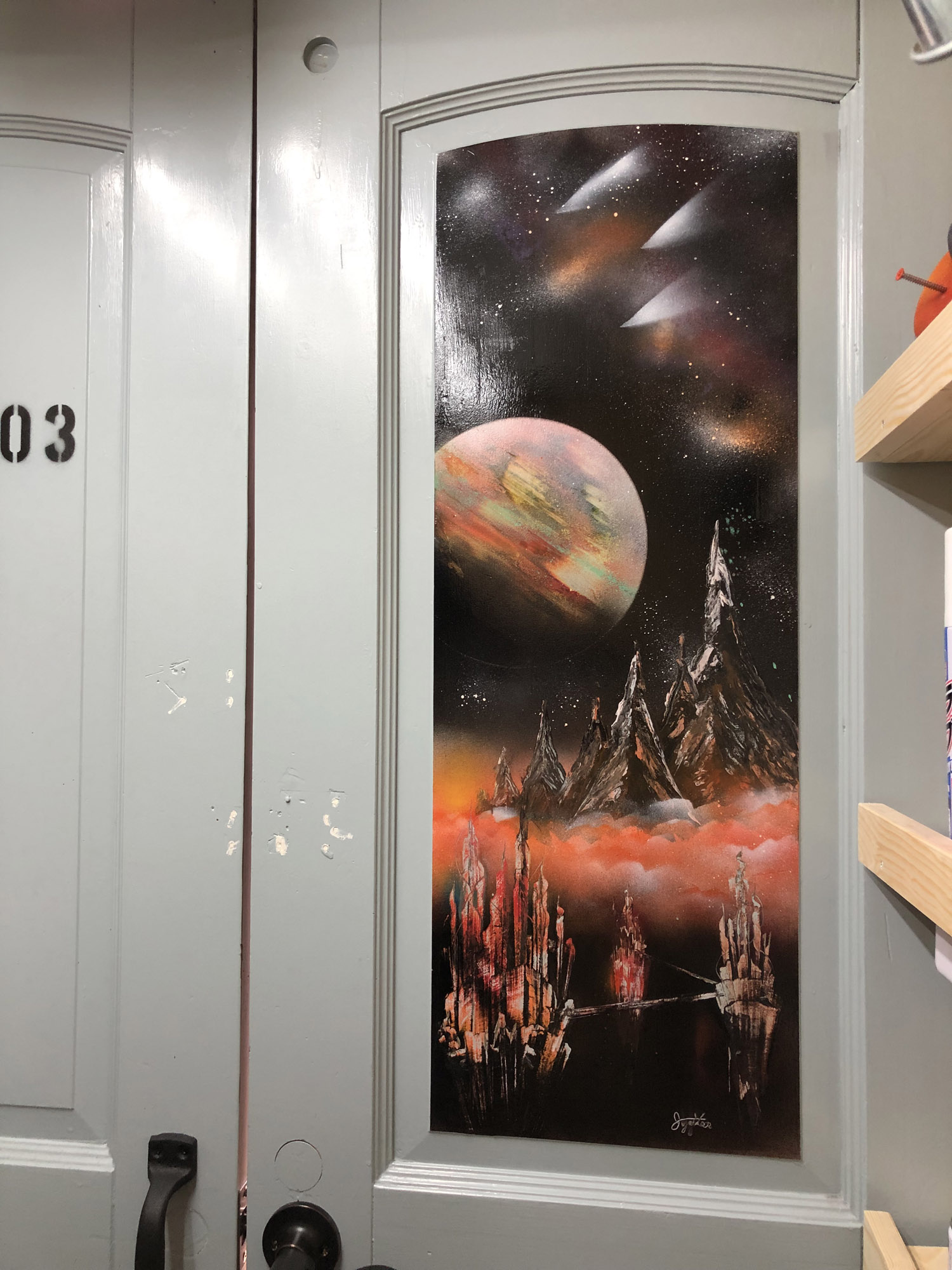 picture of the door of cube703