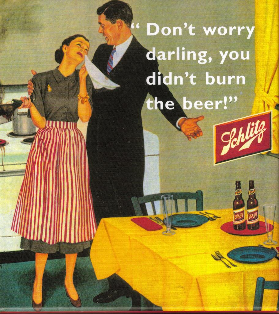 Fig. 5 - Schlitz beer ad (1950s)