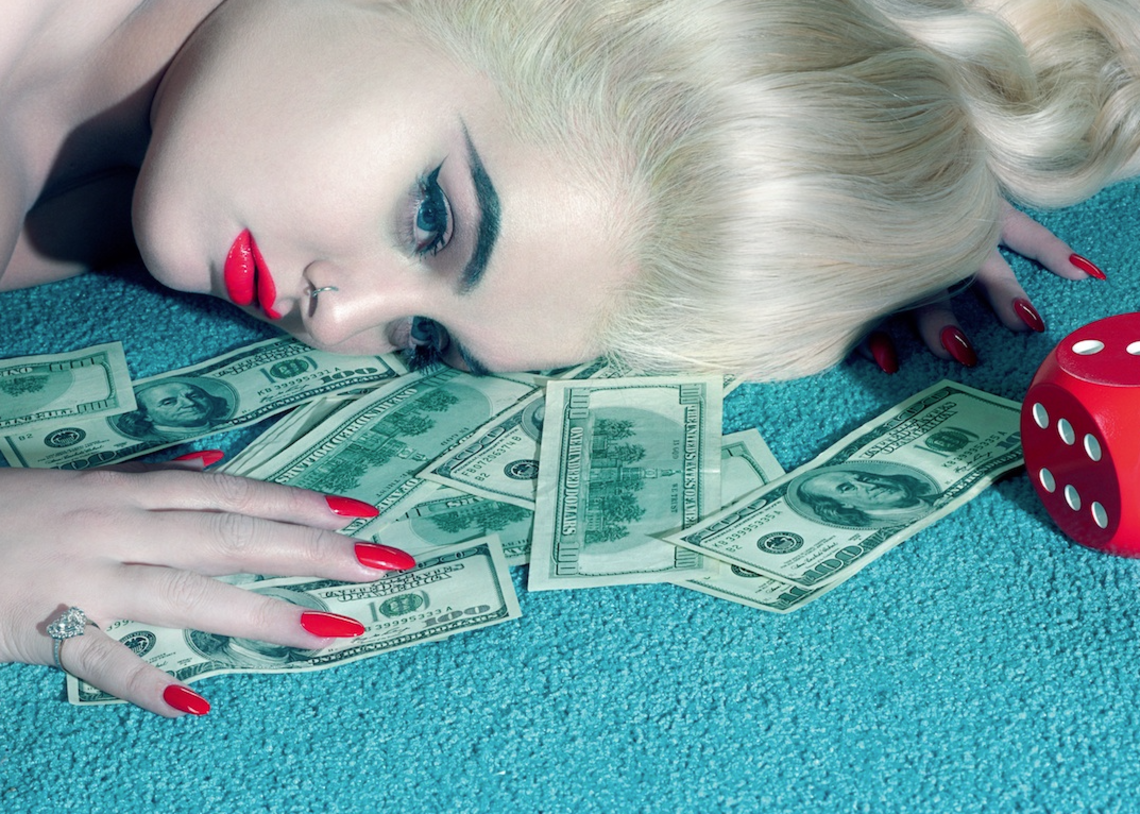 Fig. 8 - Felicity Hayward photographed by Miles Aldridge