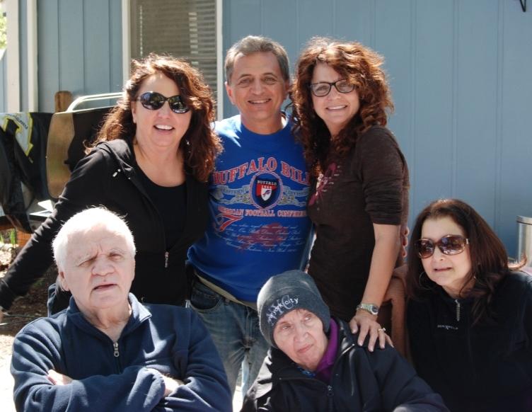 Top Row: Patty, Bobby & Susie  Bottom Row: Bob Senior, Mom Jeanie and Bob's Wife Maricela