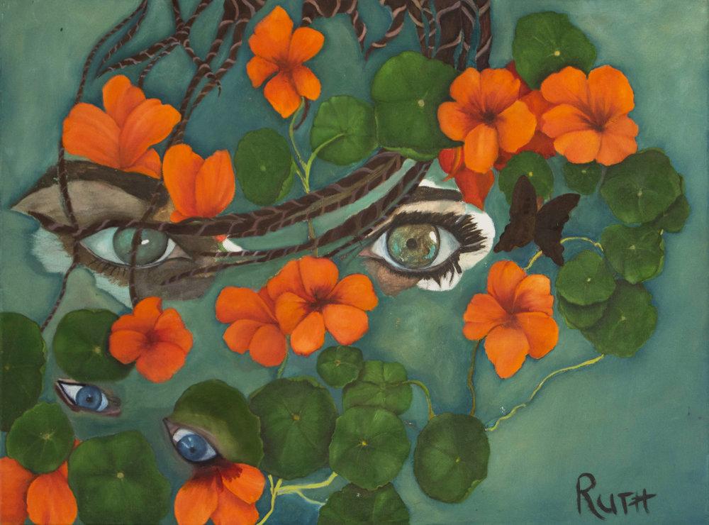 Eye and Geraniums