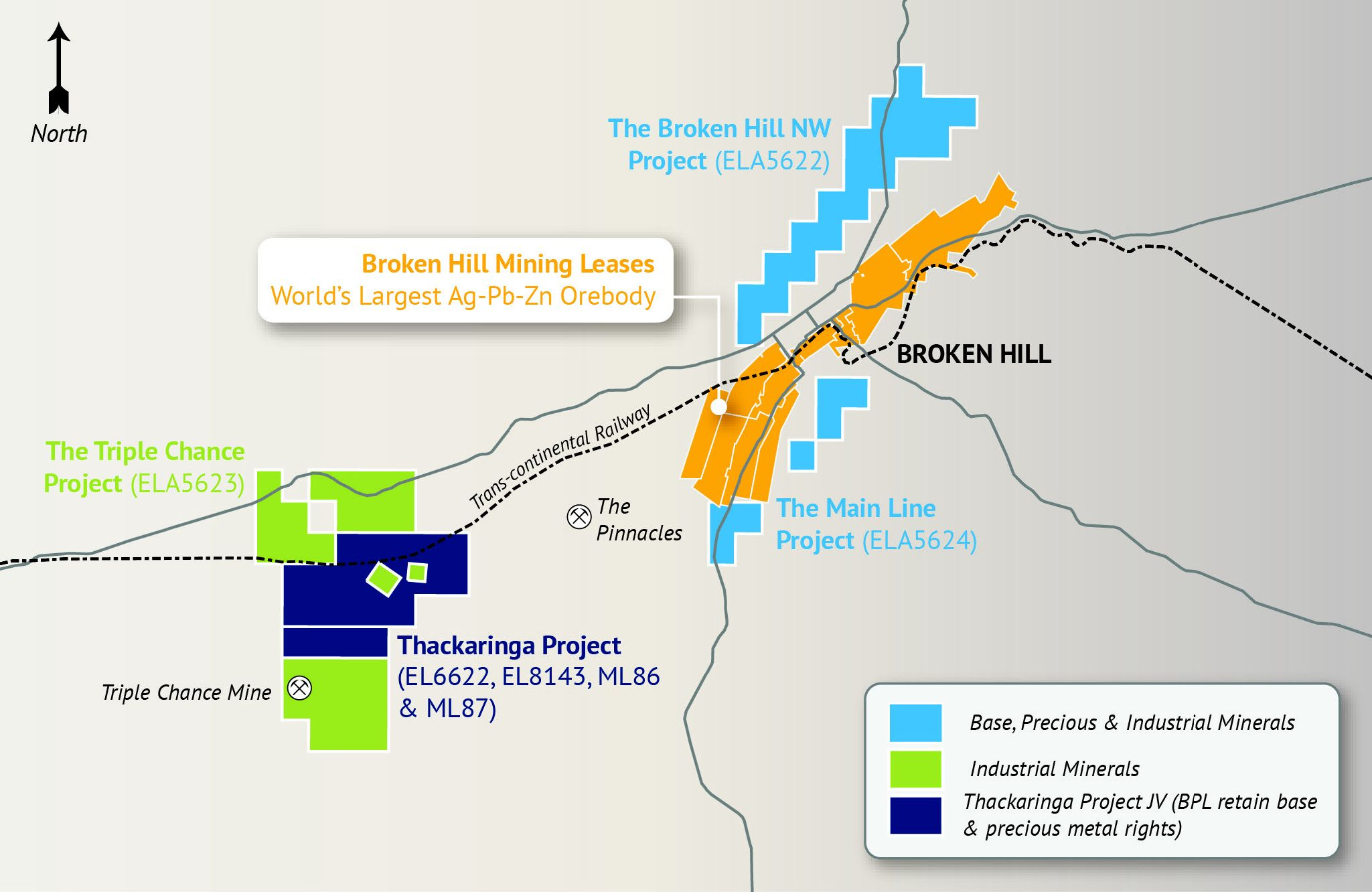 Figure 1. Location of the Thackaringa Cobalt Projects with BPL's extensive tenement portfolio in the world class Broken Hill Province