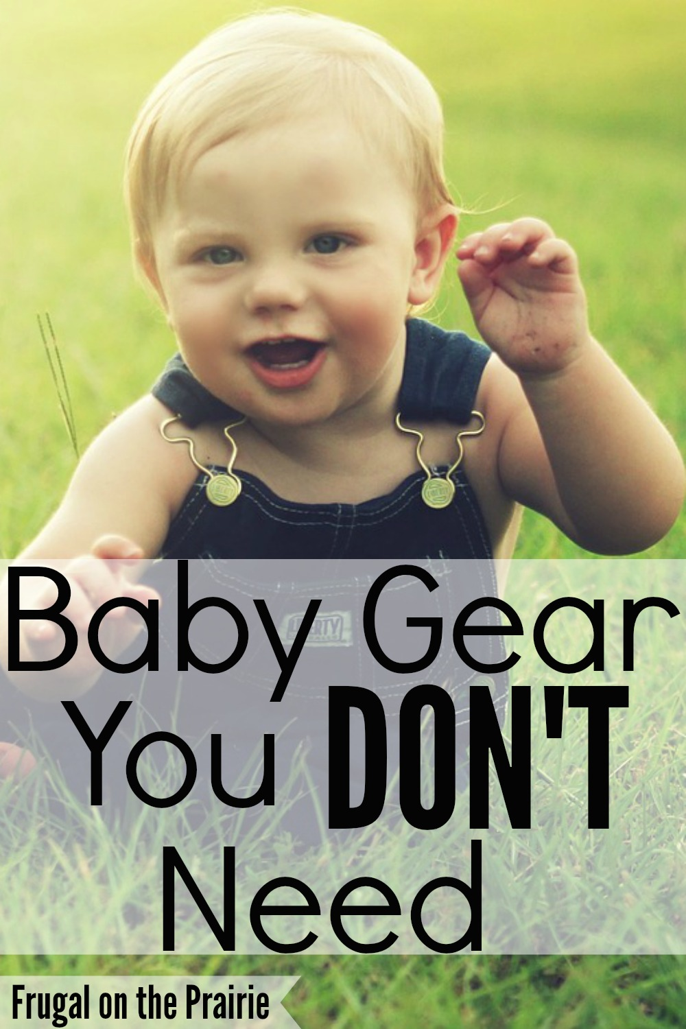 Here's a great list of baby gear you DON'T need! Save some extra money by skipping the overrated baby items.