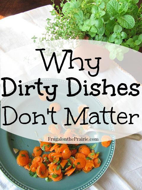 I was obsessive about washing and drying my dishes after every single meal and I slowly realized it decreased my overall efficiency.  Nowadays, I worry less and you should too. Here's why: