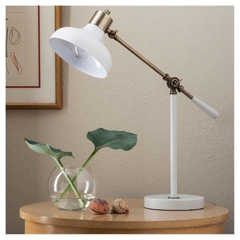 target white desk lamp
