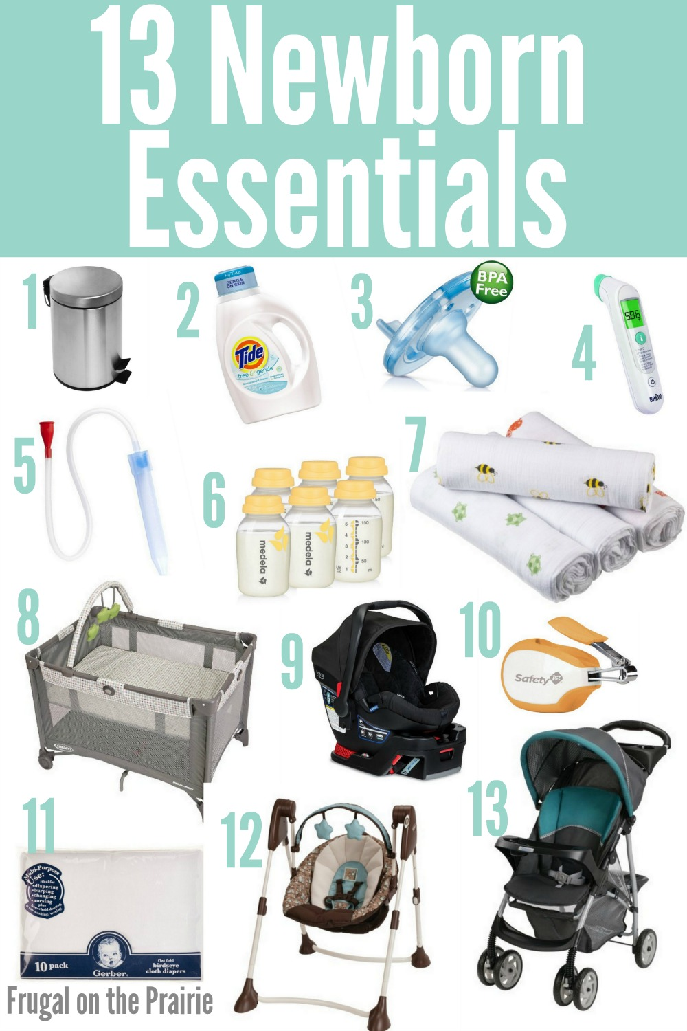 Not sure whether you're prepared and have all of the newborn essentials? Here are 13 MUST HAVE baby items that most parents can't live without!