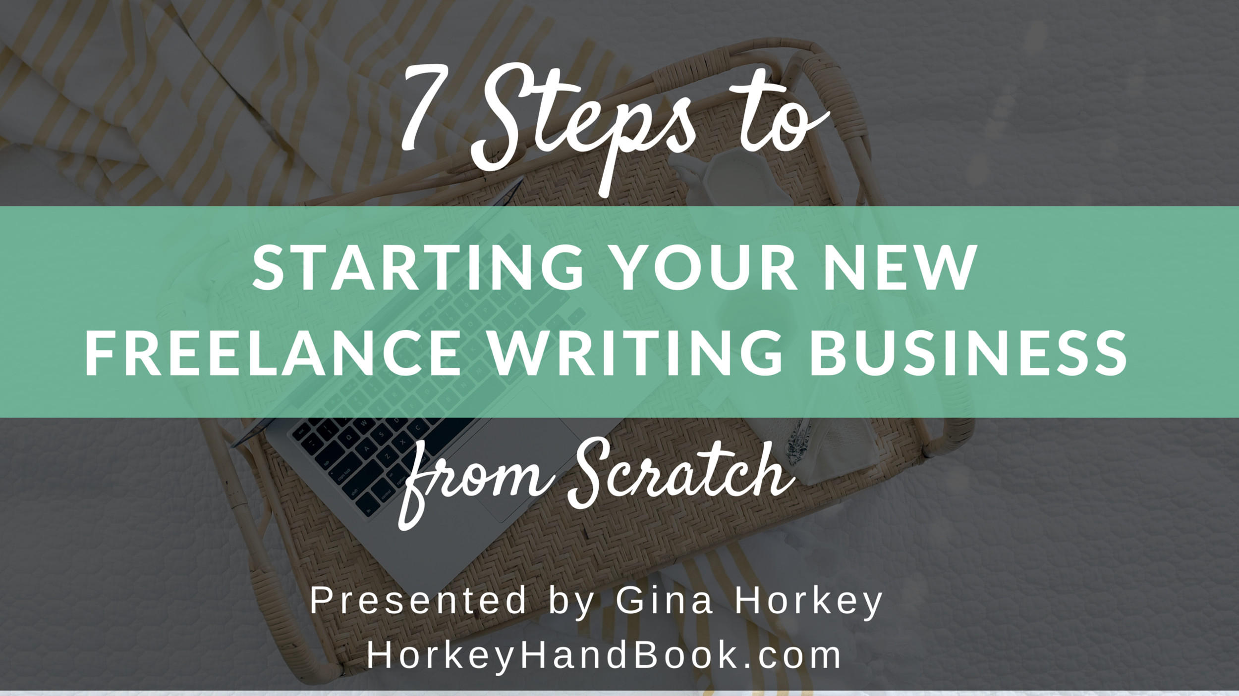 Join my friend, Gina Horkey and I next Friday (September 16) at 1pm CST to learn more about the world of freelance writing for the web. She's going to teach us the seven steps we need to take to start a new freelance writing business from scratch in less than an hour. (Have you seen her 5 FIGURE/MONTH INCOME REPORTS on Horkey Handbook?! She knows what she's doing, friends!)
