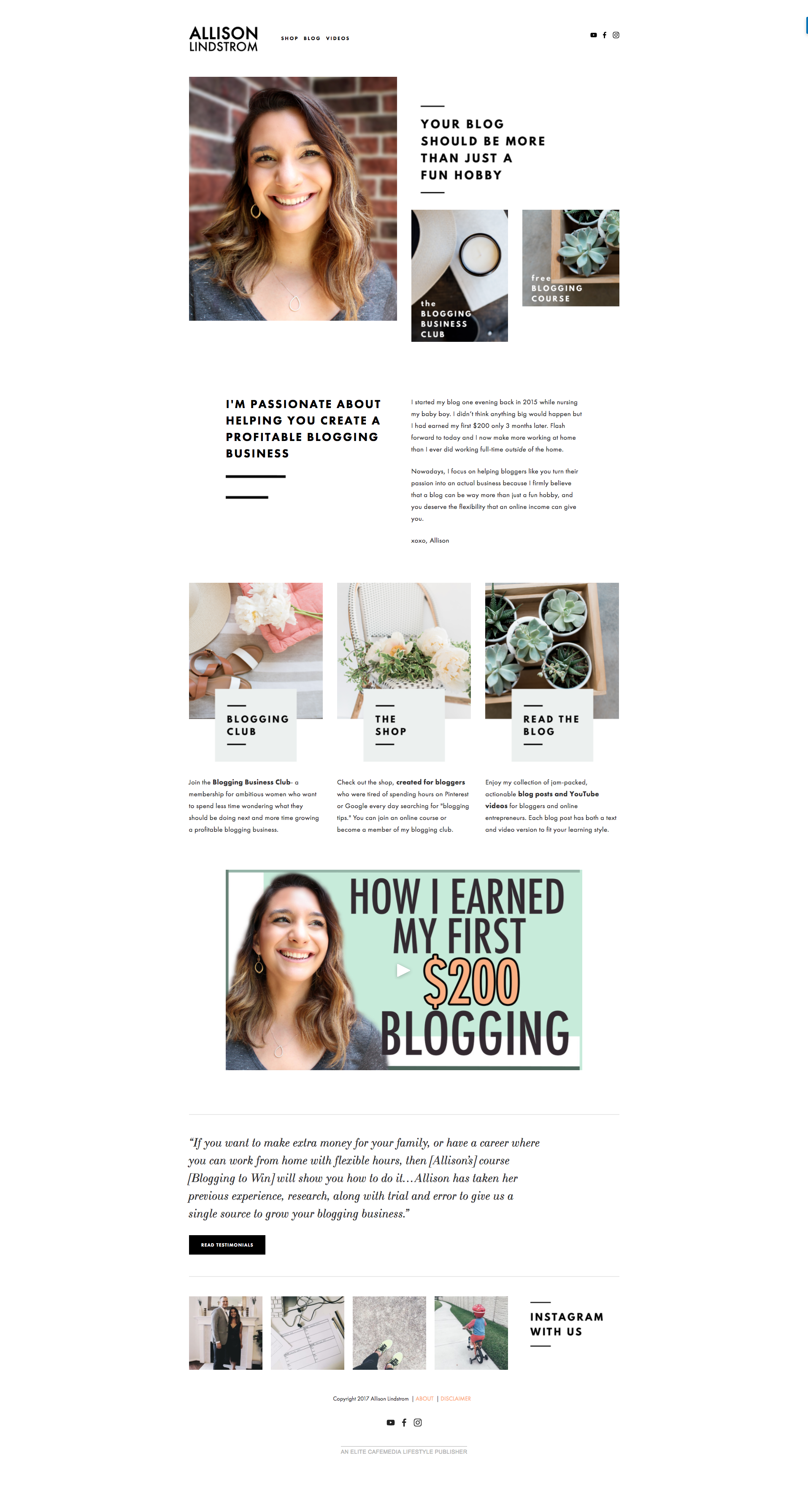 Looking for an affordable, pre-made Squarespace design kit to give your blog a makeover? AllisonLindstrom.com recently got a facelift and I thought I'd share a complete review on the website theme and the incredible Station Seven team behind the project!
