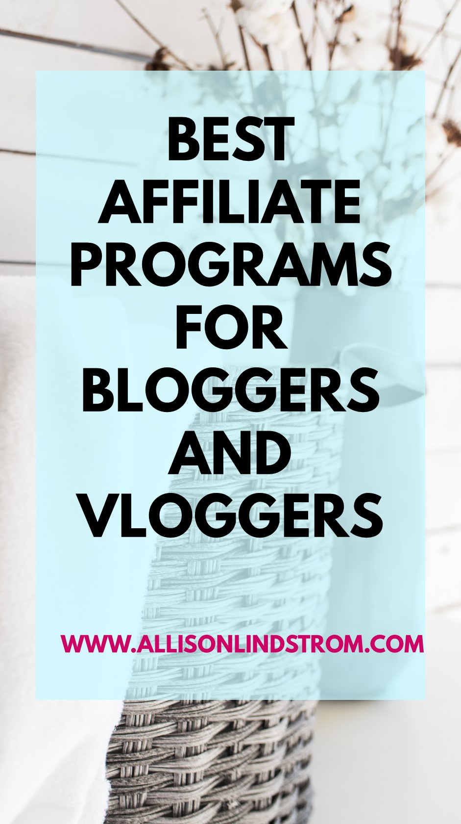 Looking for the best affiliate marketing companies to work with or just some alternatives to Amazon Associates? I'm sharing all of my favorite affiliate marketing programs today!