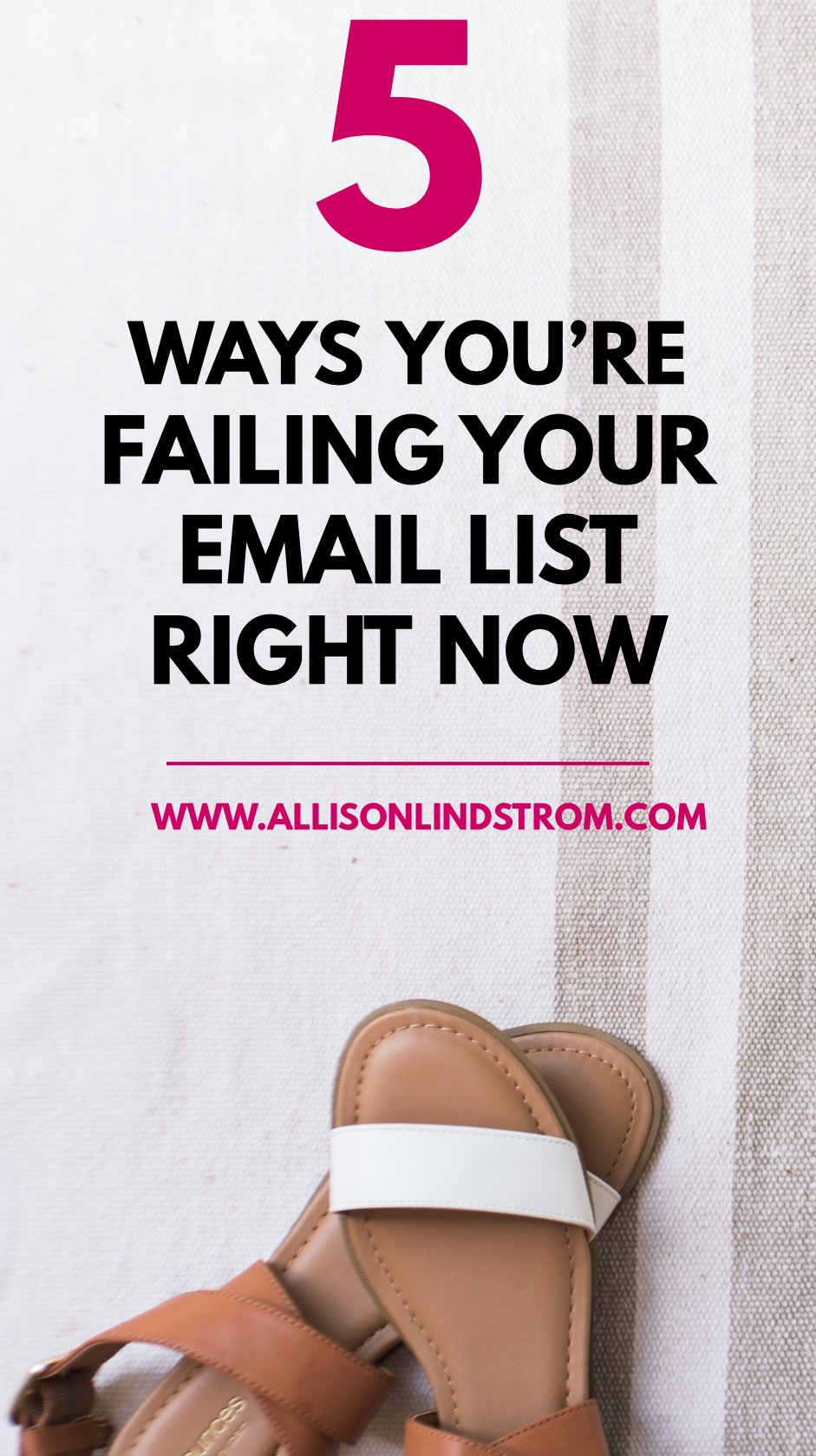 """I've received messages from you guys saying things like, """"My list isn't growing, people don't open my emails, and I have a high unsubscribe rate. How do I fix these things?"""" So today I'm talking about common email marketing mistakes AND I have a bonus workbook for you. Just check out the link above to get your copy"""