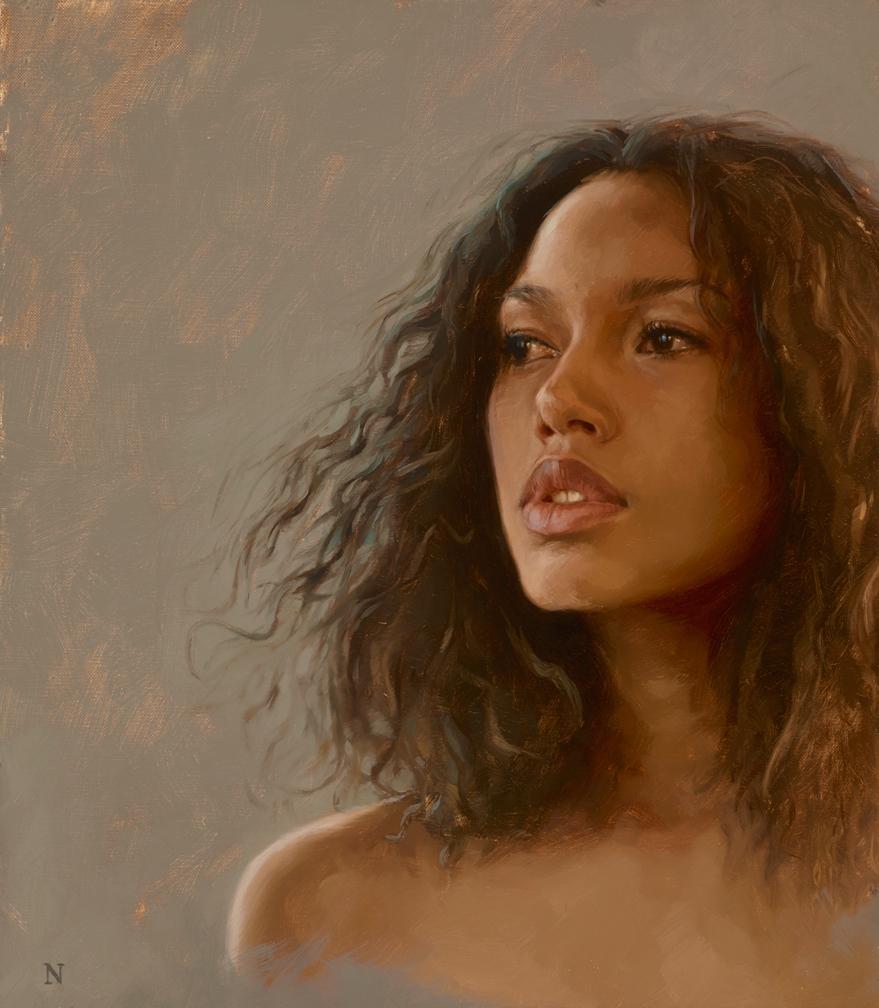 """portrait study, """"Eirinie"""""""