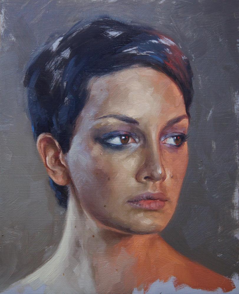 "portrait study, ""julia"""