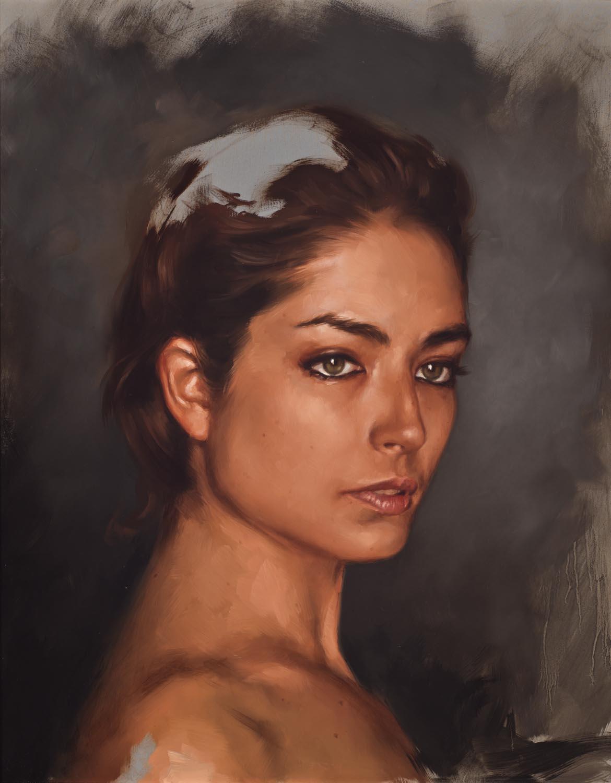 "portrait study, ""Chanon"""