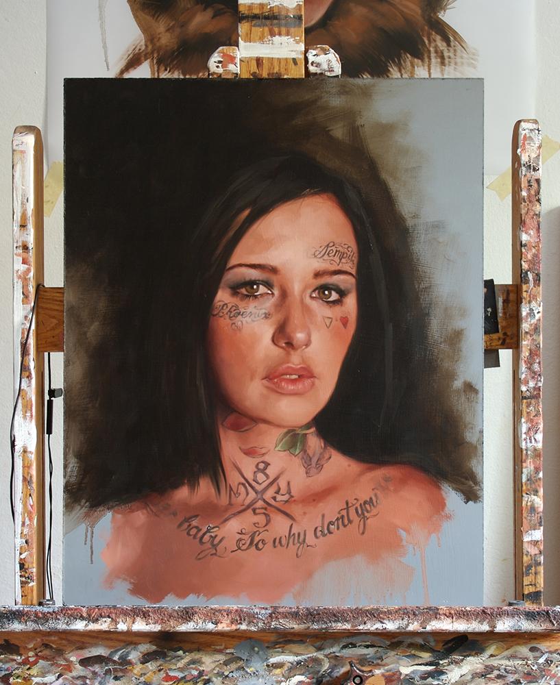 """portrait study, """"Jessica"""""""