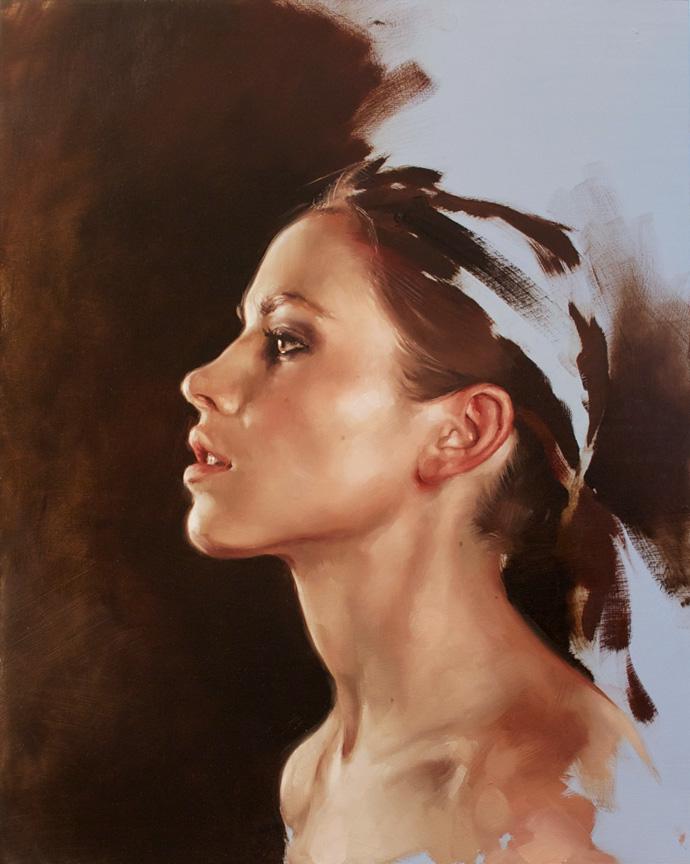 """portrait study, """"Lauren C"""""""