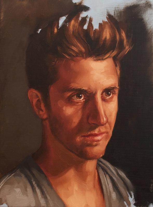"mini-portrait study, ""the Lamb"""