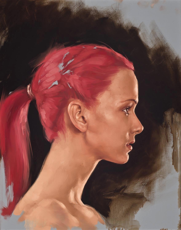 """portrait study, """"Raven"""""""