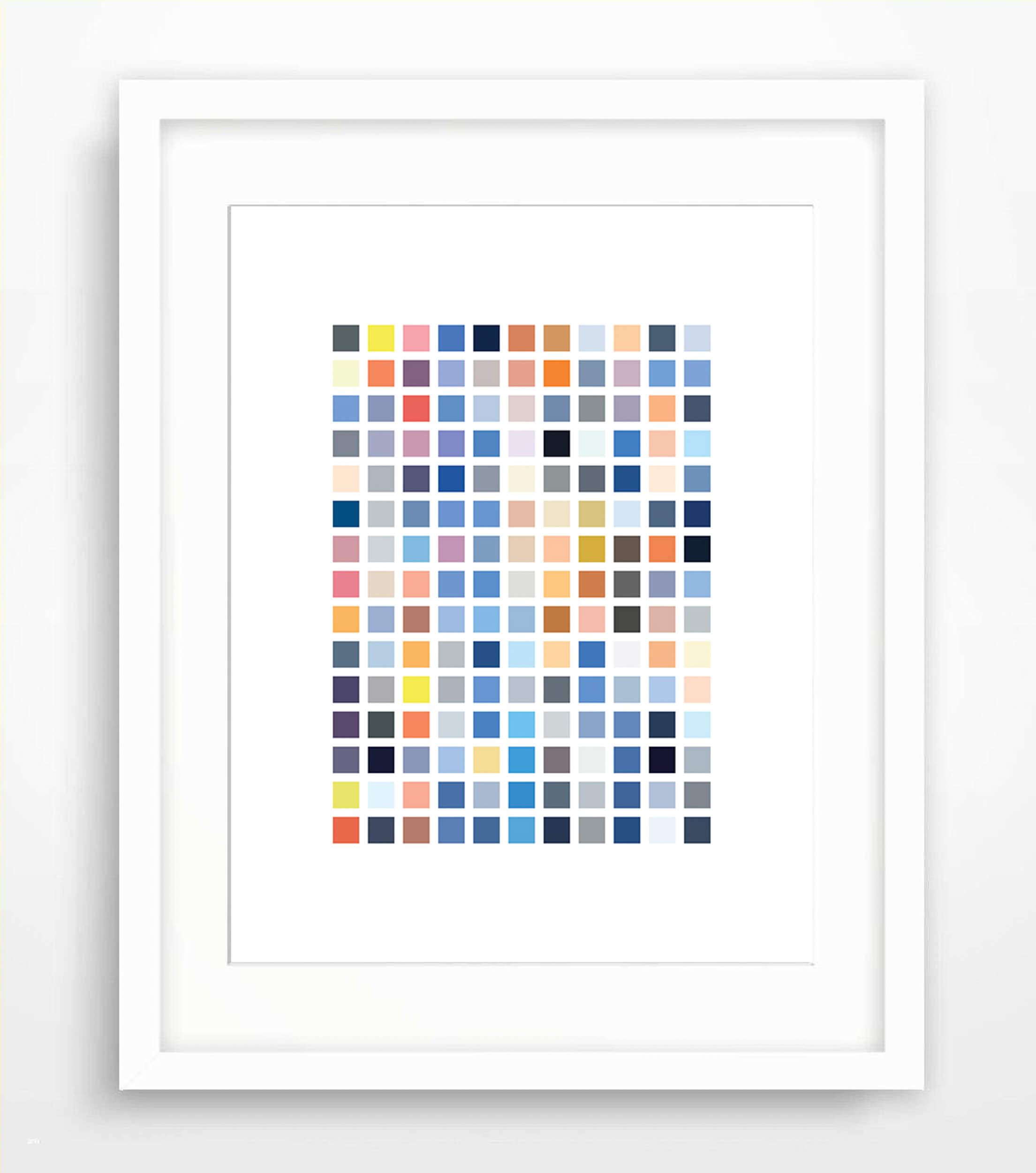 """Circadian Echoes - Sky Swatches (2018)  6x8"""" inkjet print on sustainable 32pt heavyweight paper (SFI & FSC certified)"""