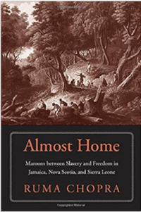 Almost Home, Maroons Between Slavery and Freedom in Jamaica, Nova Scotia, and Sierra Leone  (Yale Press, 2018) explores the ordeal of the Trelawney Town Maroons in three British imperial zones during the late eighteenth and early nineteenth centuries.