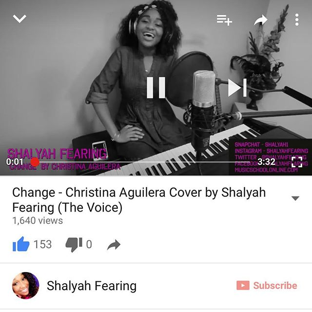 Hey guys!! Watch my cover of Change by @xtina You'll love it!! I put a lot of work into it! 😁❤️❤️❤️ @nbcthevoice #watchit 😄