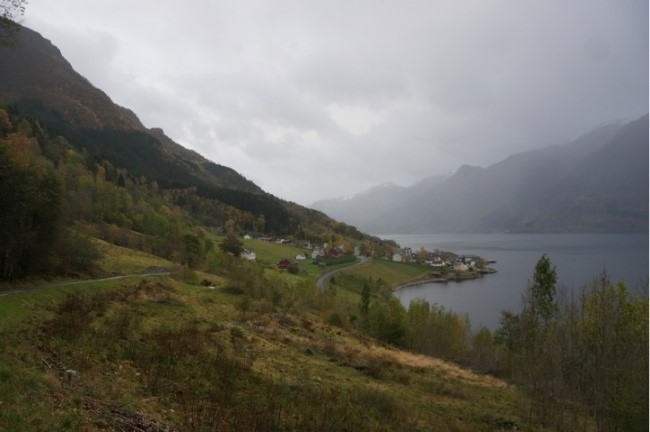 The town of Hovland, Norway