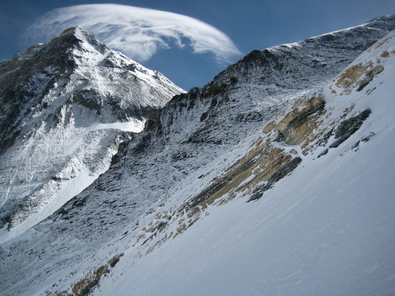 Mount Everest from the Lhotse Face