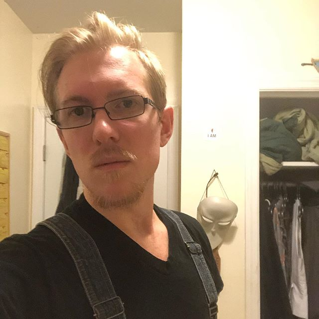 Sometimes I don't hate how I look but I #cantwait to get right of this #goatee sometime soon.  #selfie #me #overalls #iam