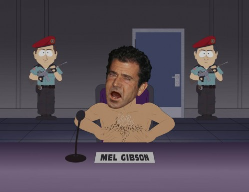 Mel Gibson, as portrayed by  South Park , whose nipples hurt when he twists them.