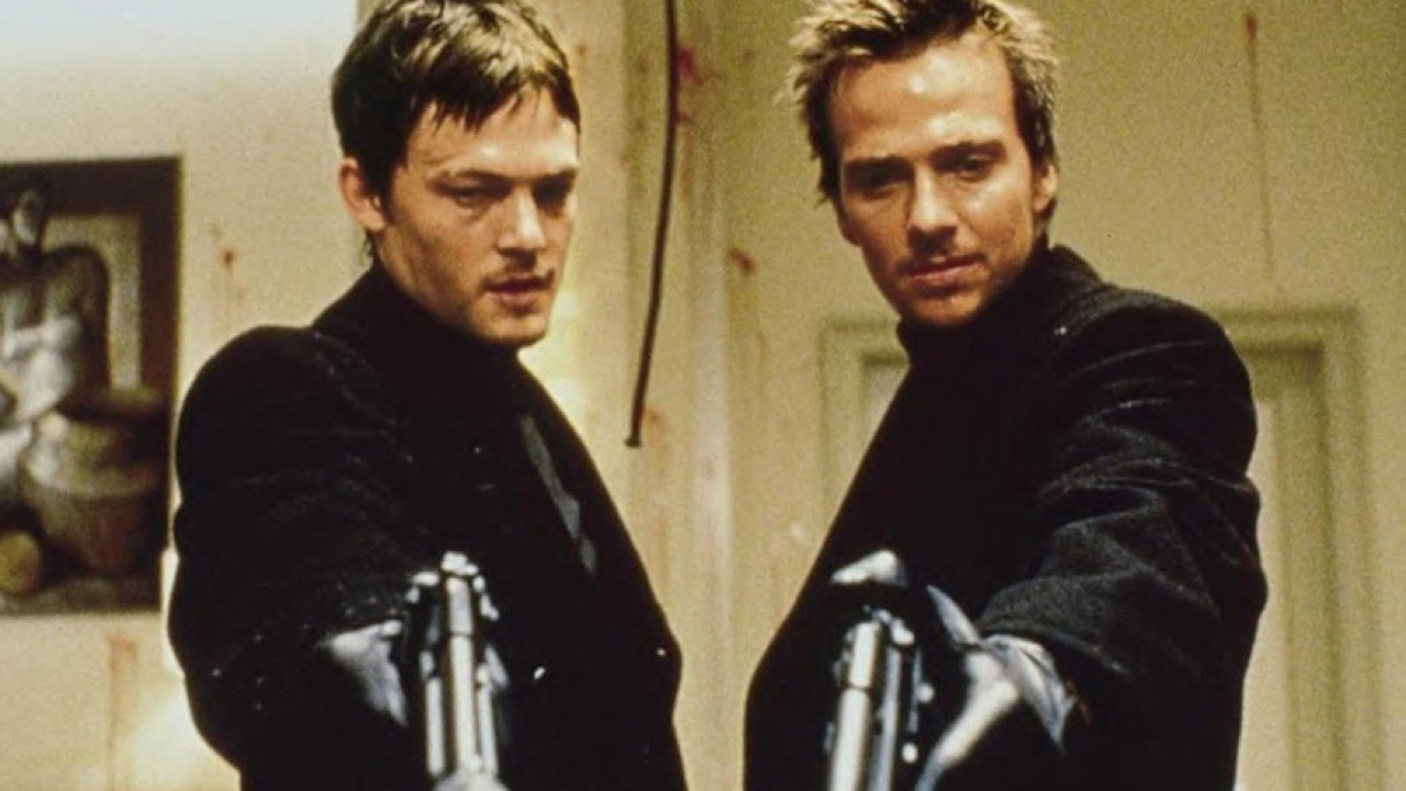 The Boondock Saints, about to kill some bad guys.