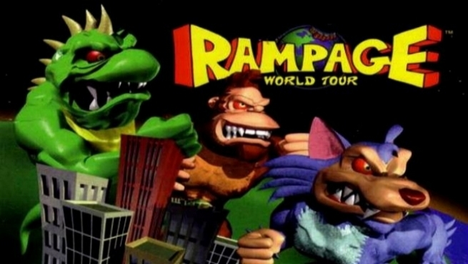 Classic video game Rampage is being turned into a 2018 feature film. - The logic is that since video games with actual plots become such great films, an arcade game that is literally plot-less will be even better.