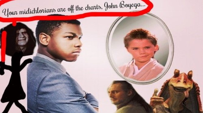 john boyega dumped when his date found out he was in star wars. - She feared the residual criticism that would lead to his inevitable destiny of becoming the next Jake Lloyd.