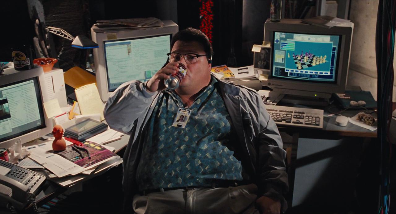 Newman drinking soda