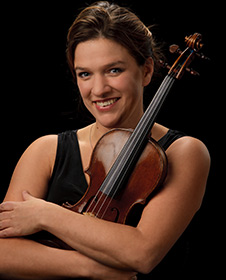 Violinist Cordula Merks; photo by Larry McDaniels