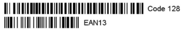 EAN-8, EAN-13, UPC-A