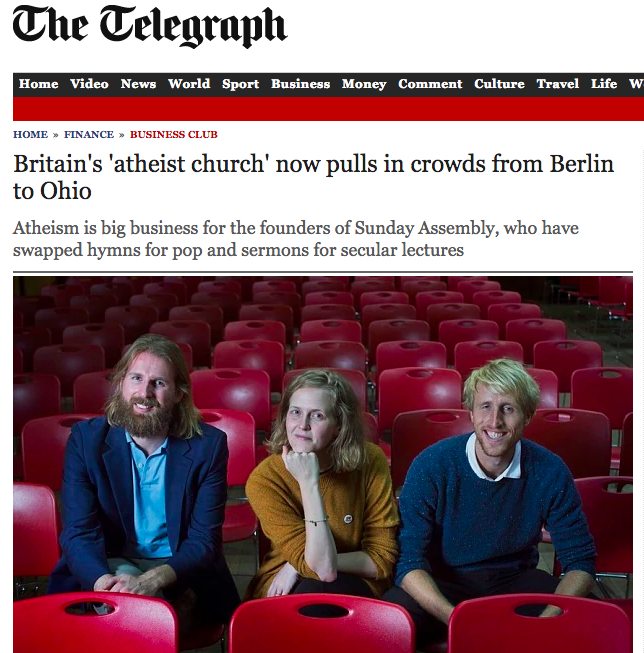 The Telegraph  business section wanted to find out how we grew so fast.