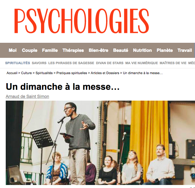 Psychologies  in France wrote about Sunday Assembly launching in Paris.