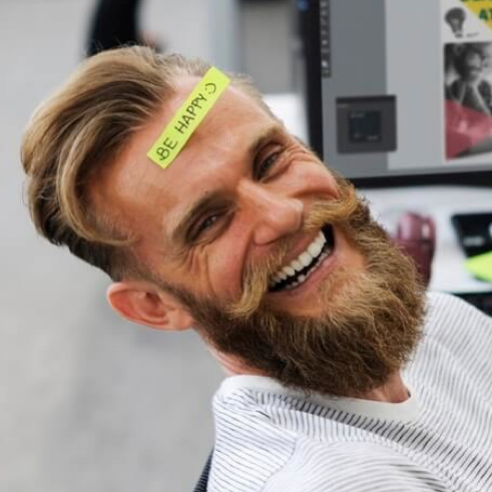 Be Happy Beard Man.png