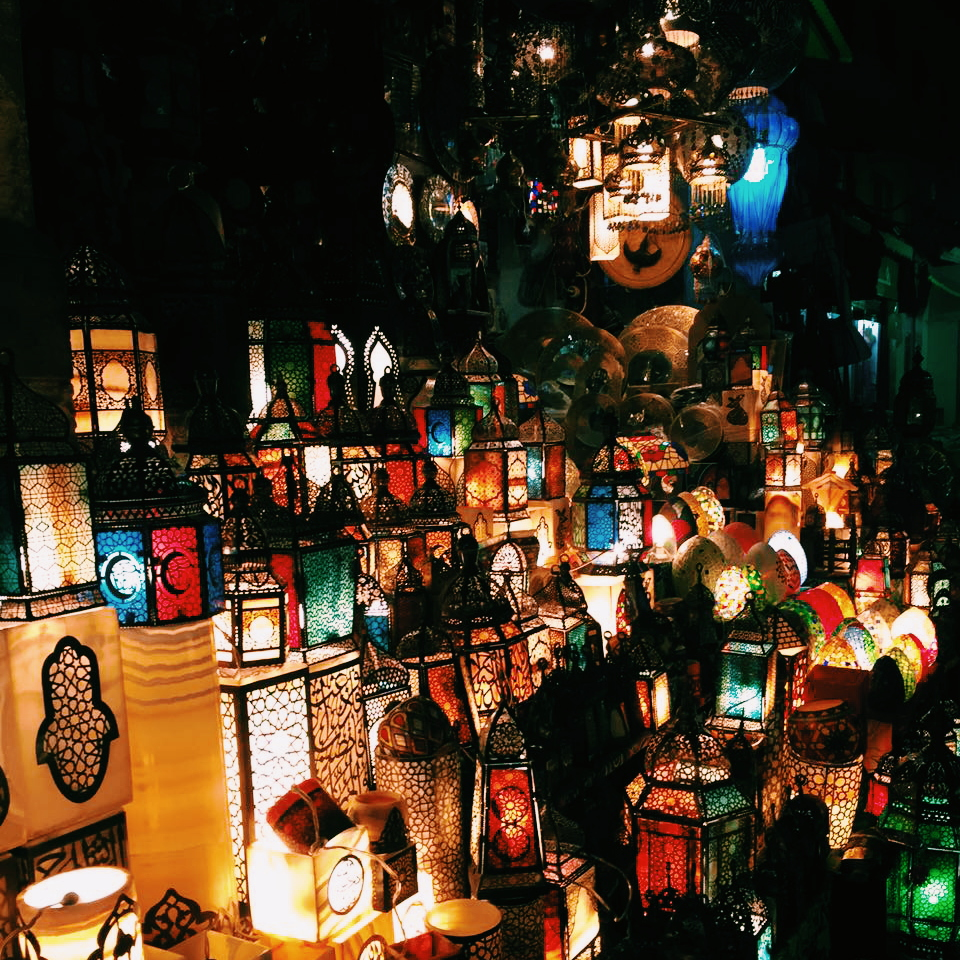 Lanterns at Cairo's Khan el-Khalili market.